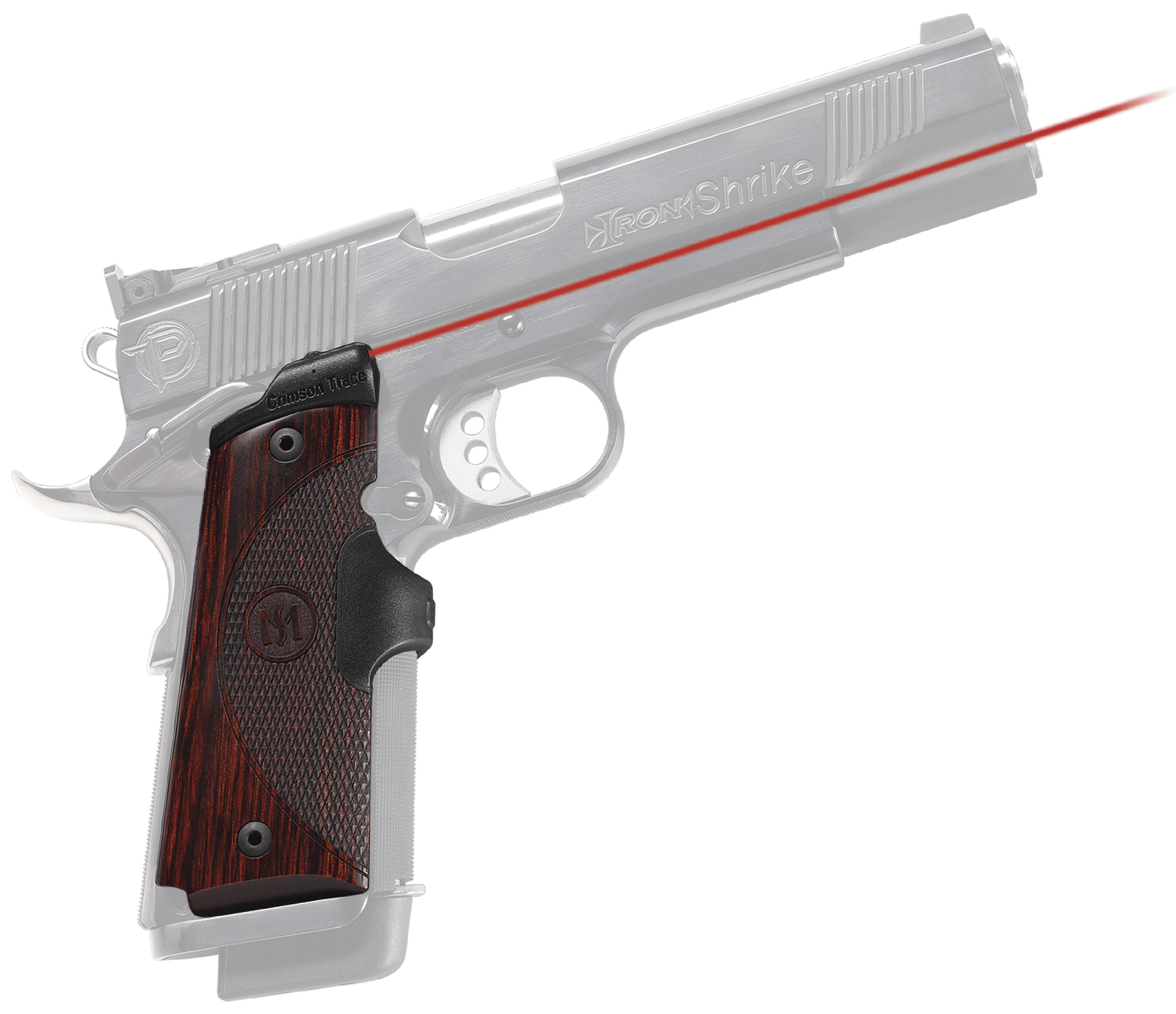 Crimson Trace® Master Series™ Lasergrips® - 1911 Full Size - Rosewood - Red Laser