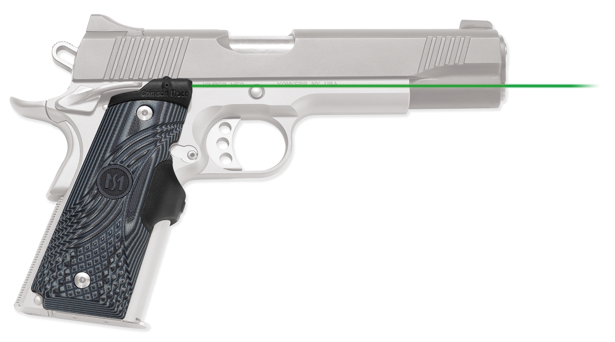 Crimson Trace® Master Series™ Lasergrips® - 1911 Full Size - G10 - Green Laser