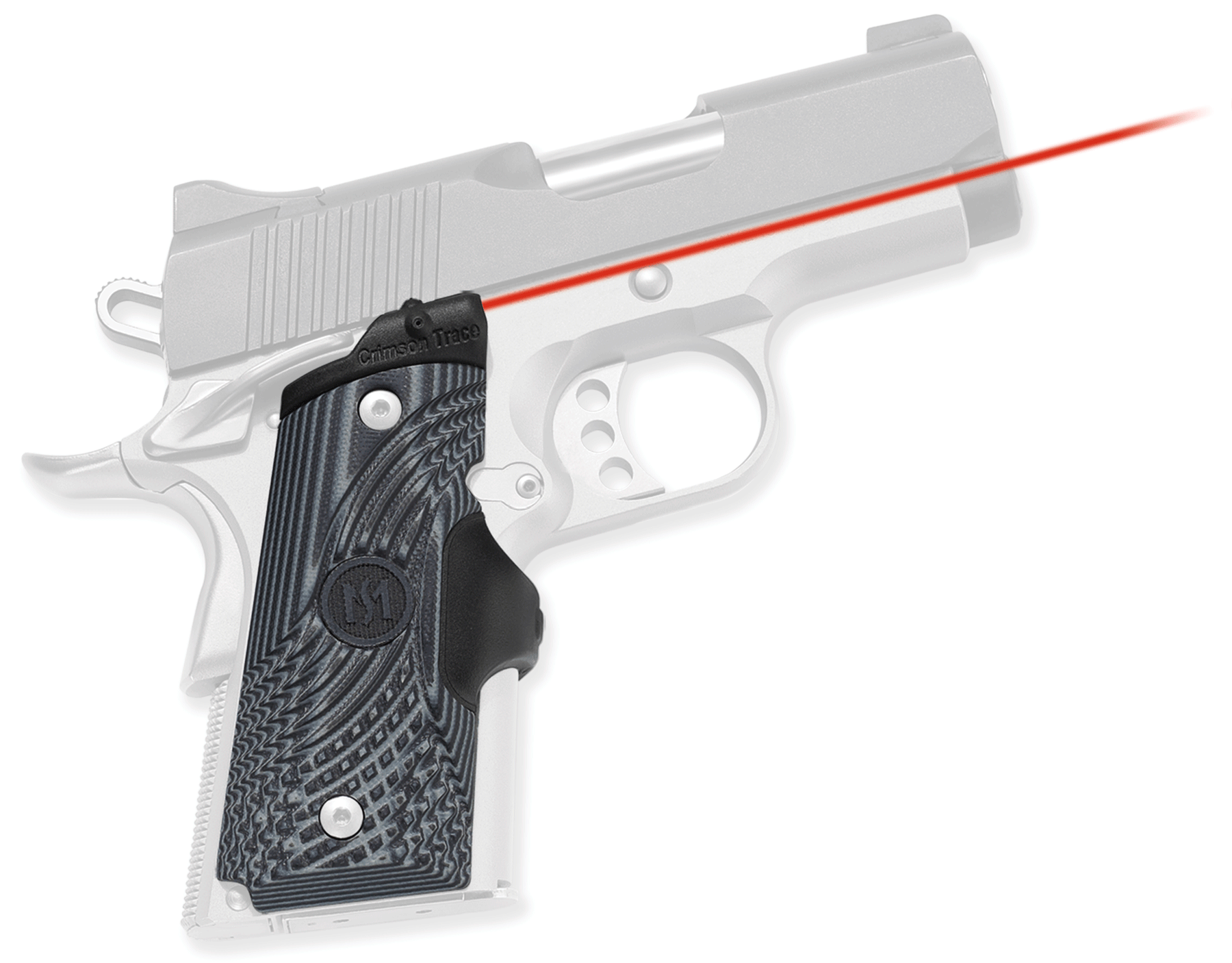 Crimson Trace® Master Series™ Lasergrips® - 1911 Compact - G10 - Red Laser