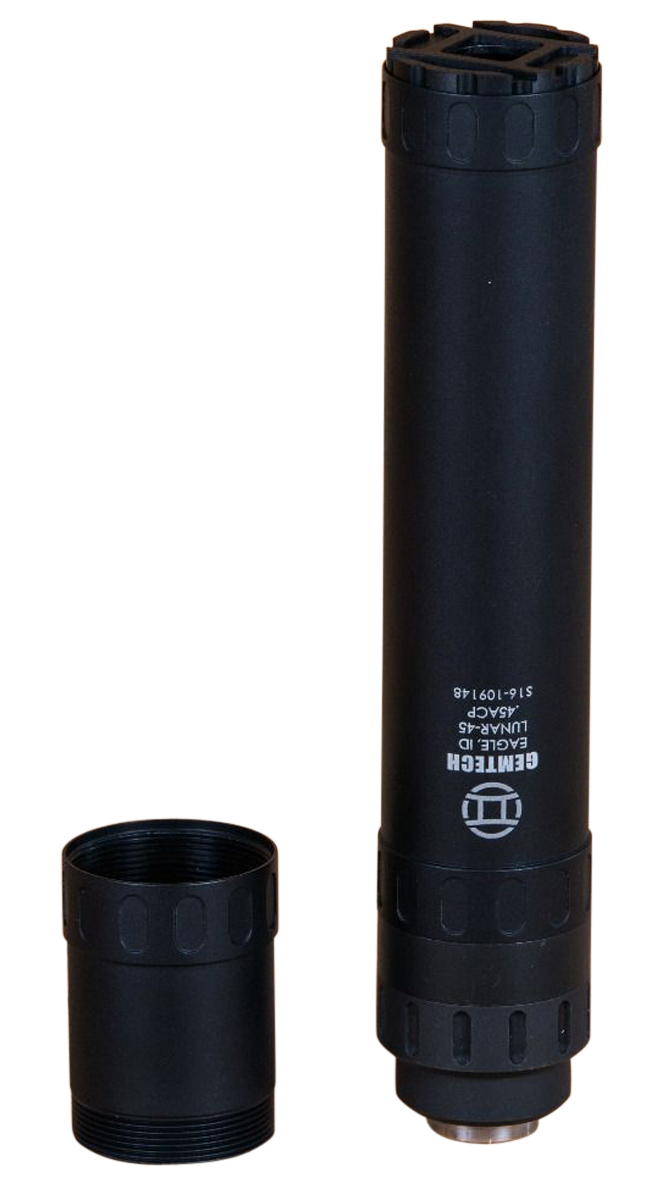 Gemtech Lunar-45 Pistol Suppressor - 45 ACP - 0.578x28 - Direct-Thread - Black Anodized