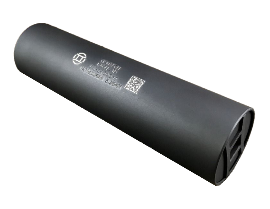 Gemtech Patrolman Rifle Suppressor - 5.56 NATO - 1/2x28 - Direct-Thread - Black Cerakote
