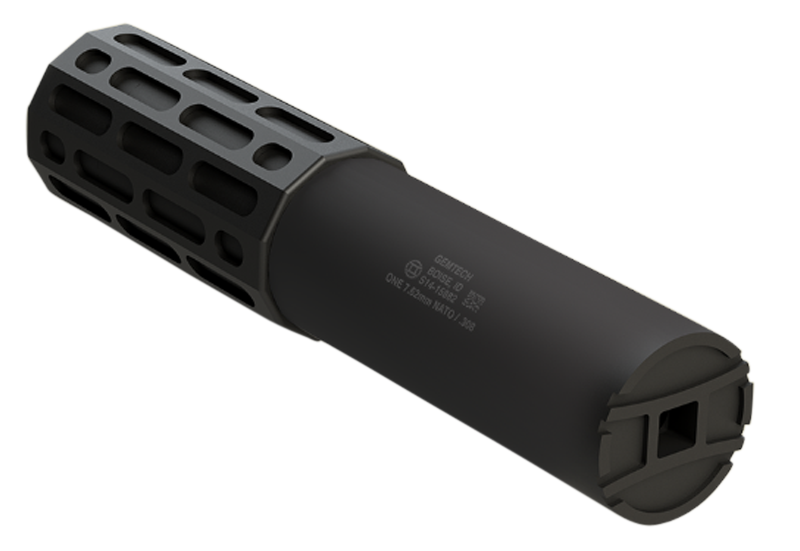 Gemtech One Rifle Suppressor - 300 Win Mag - 5/8x24 - Quick-Detach/Direct-Thread - Black Cerakote