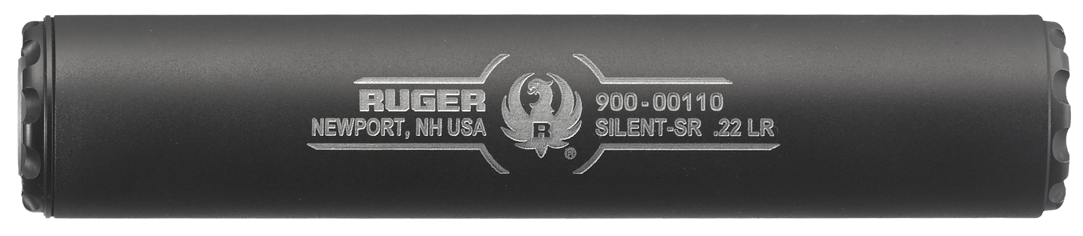 Ruger Silent-SR Rimfire Suppressor - 22 LR - 1/2x28 - Direct-Thread - Black Cerakote