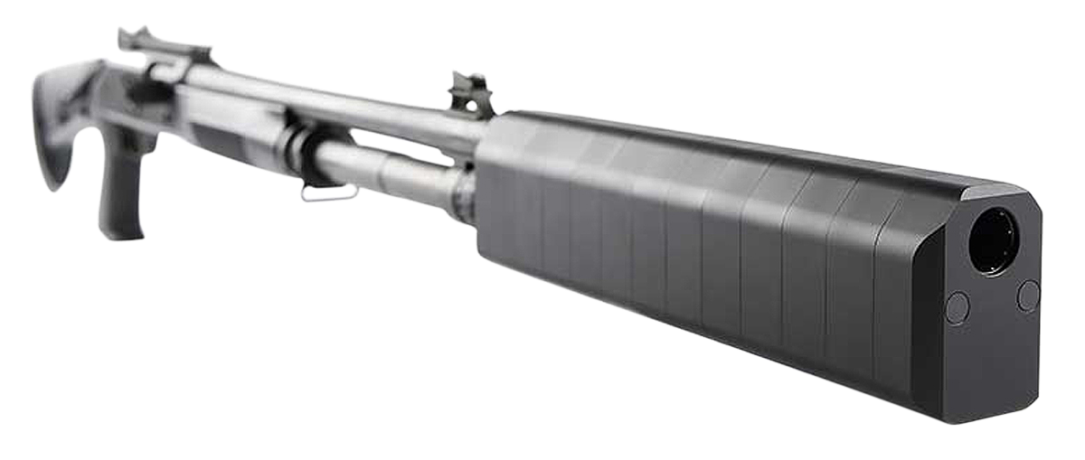 SilencerCo Salvo 12 Shotgun Suppressor - 12 Gauge - Direct-Thread - Black