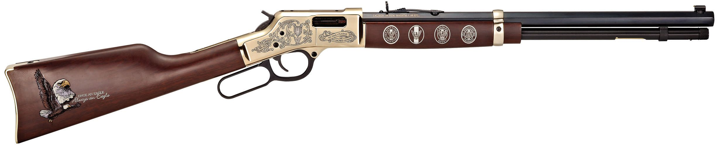Henry Big Boy Eagle Scout Centennial Tribute Edition Lever-Action Rifle - 44 Rem Mag/44 Spl 20