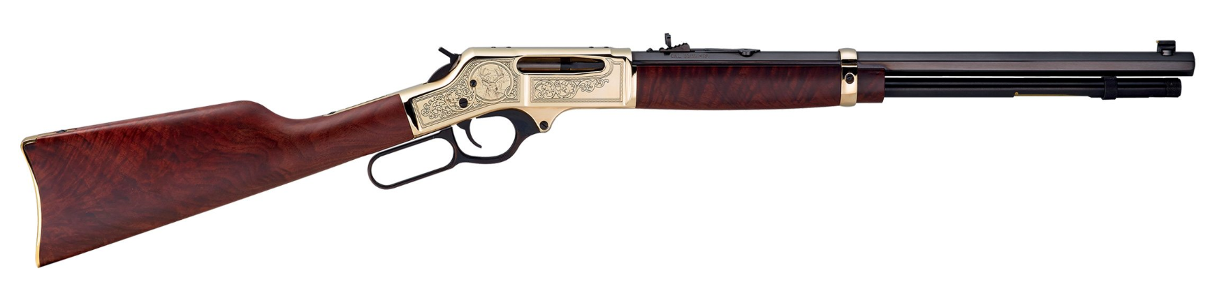 Henry Brass Wildlife Edition Lever-Action Rifle - 30-30 Win 20