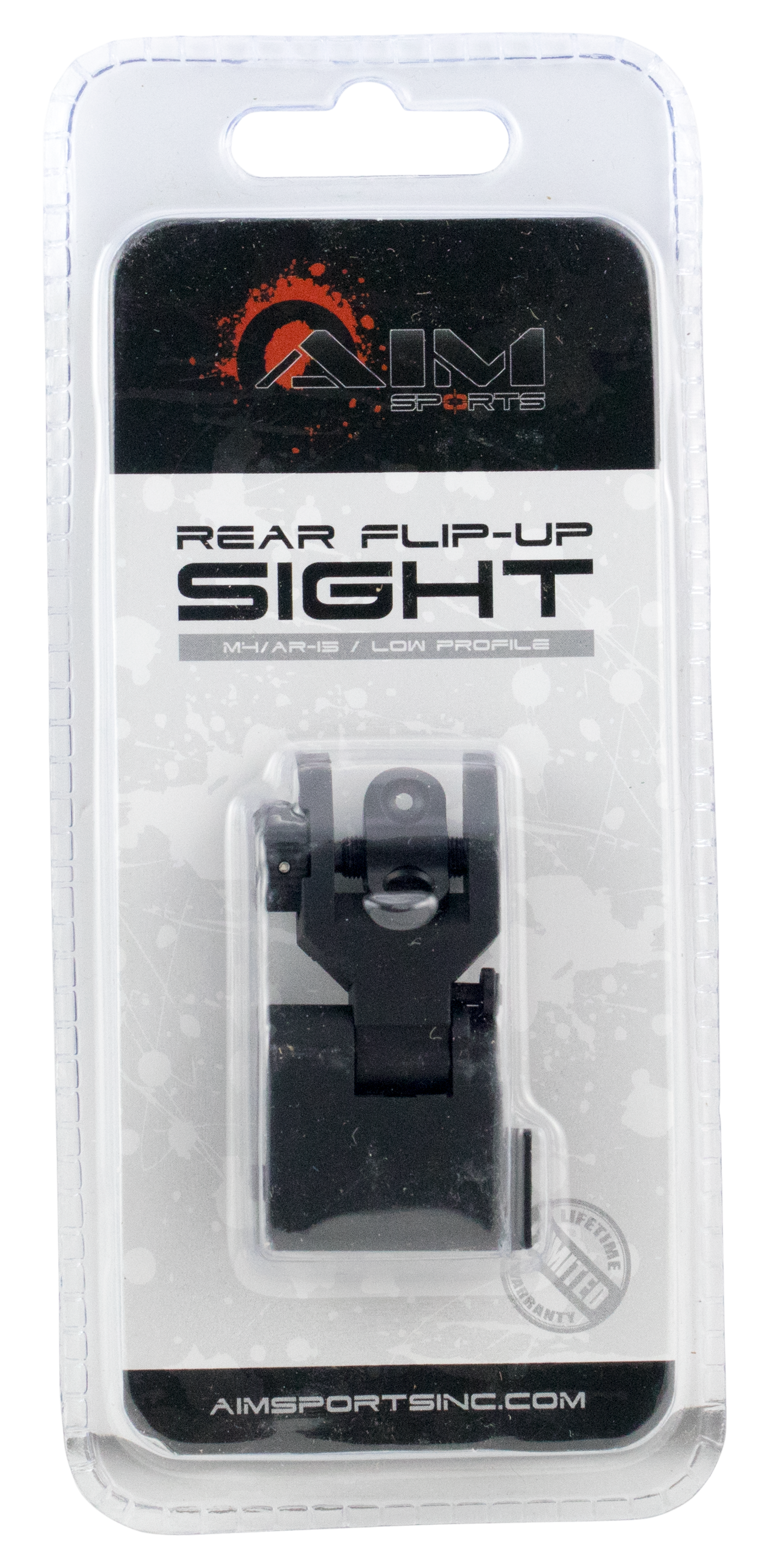 Aim Sports MT201 Rear Flip-Up Sight - Low Profile AR-15 Black