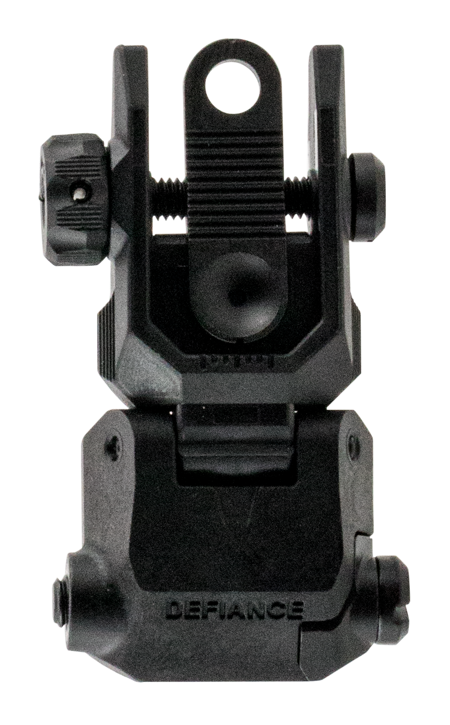 Kriss USA DAPRSBL00 Defiance Rear Flip-Up Sight - Rear AR Rifle Polymer Black