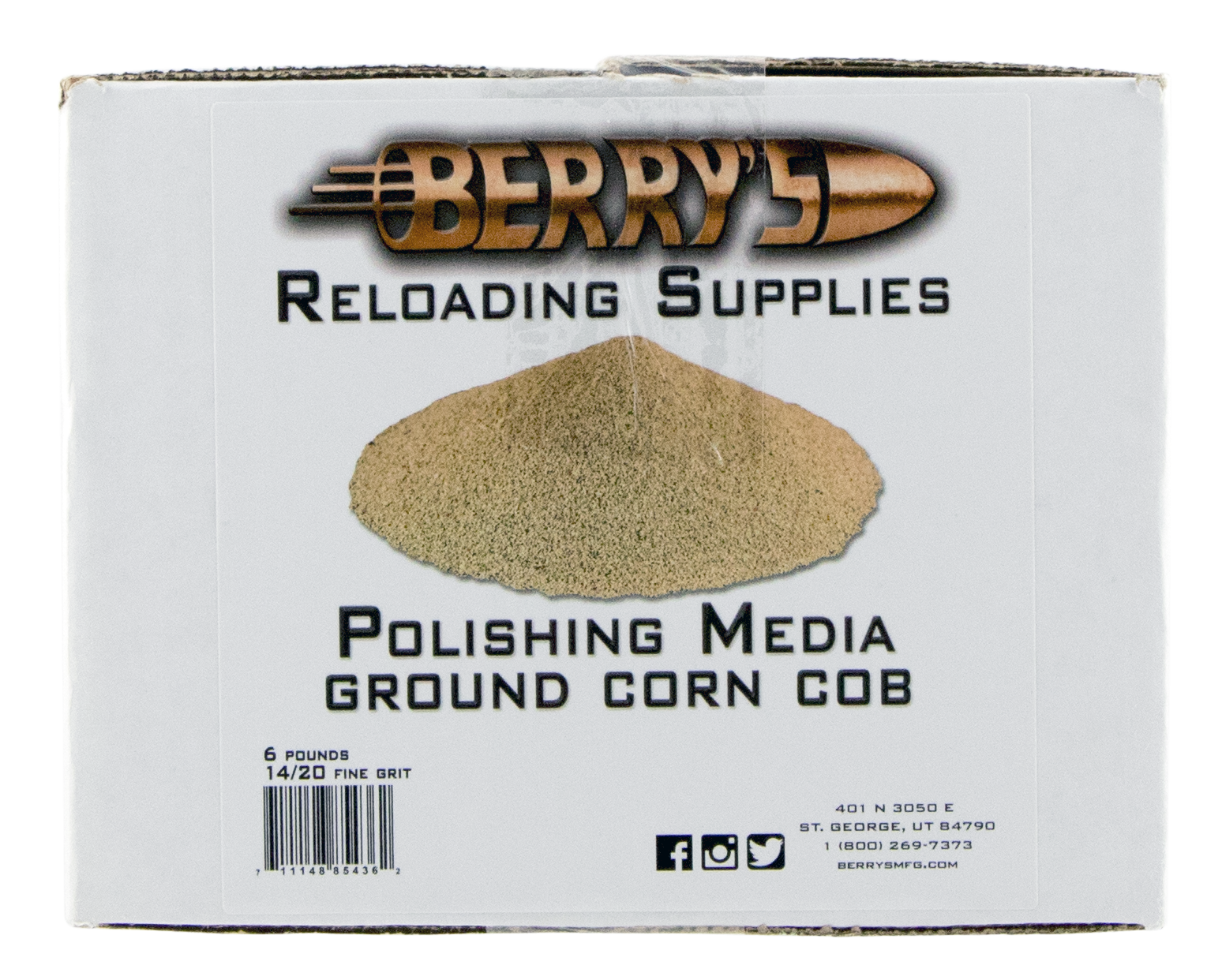 Berry's 14/20 Grit Corn Media - 6 lbs.