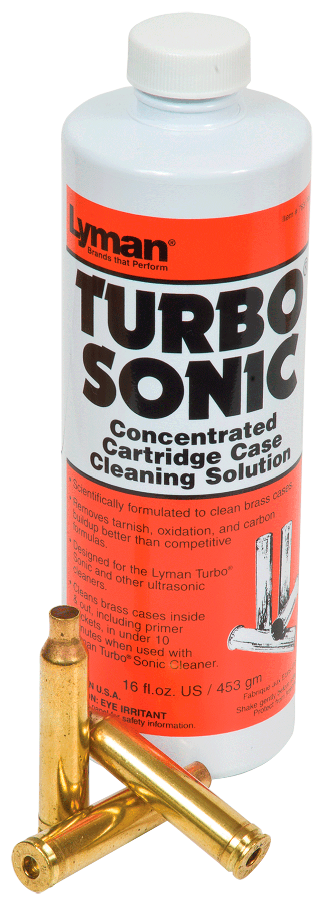 Lyman Turbo Sonic Ultrasonic Case Cleaning Solution - 16 oz.
