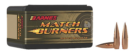 Barnes Match Burner Rifle Bullets .30 Caliber (0.308 Diameter) 155GR Open Tip Match Boat Tail Per 100