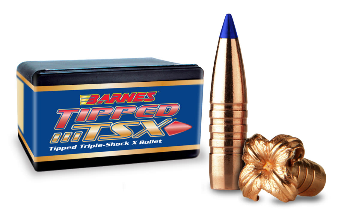 Barnes Tipped TSX Rifle Bullets .30 Caliber (0.308 Diameter) 168GR Polymer Tip Boat Tail Per 50