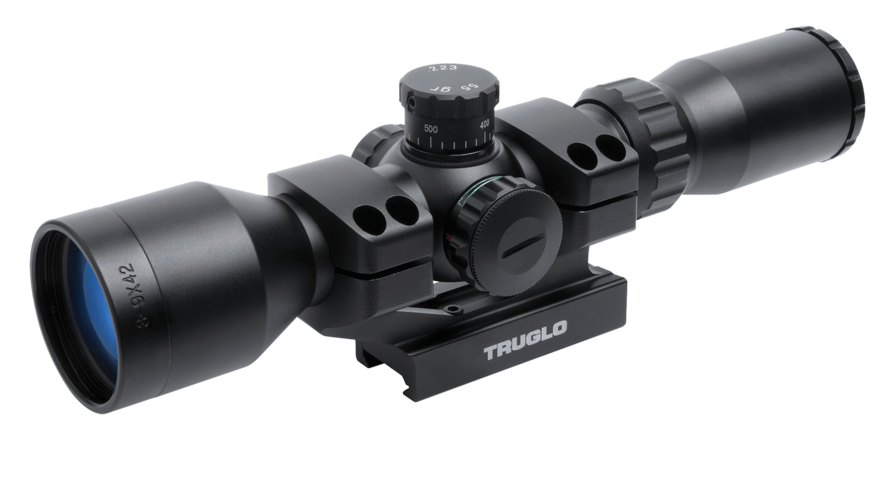 TRUGLO Tactical 3-9x42 Mil-Dot Second-Focal Plane 1