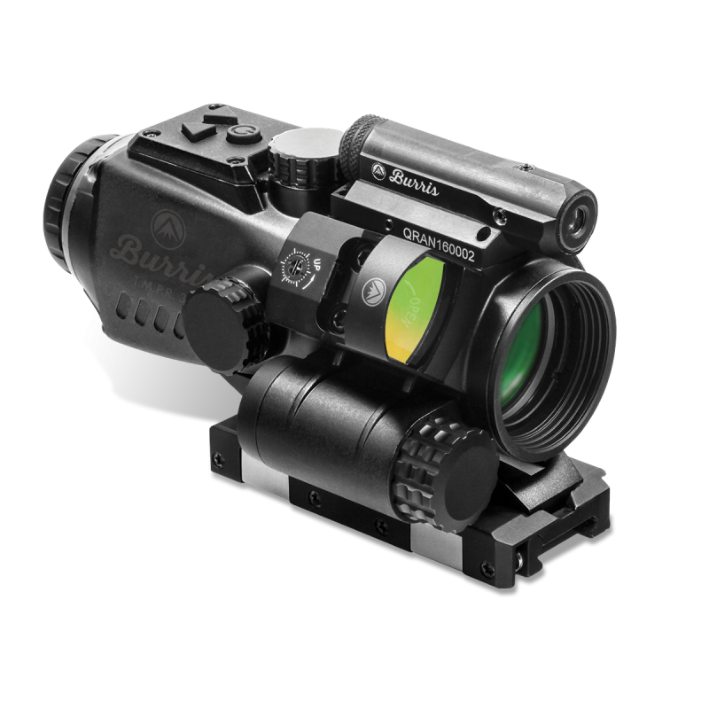 Burris T.M.P.R. 5 Prism Sight with FastFire 3 and Laser Sight - 5x - Illum. Ballistic AR - Red/Green/Blue Dot - Matte