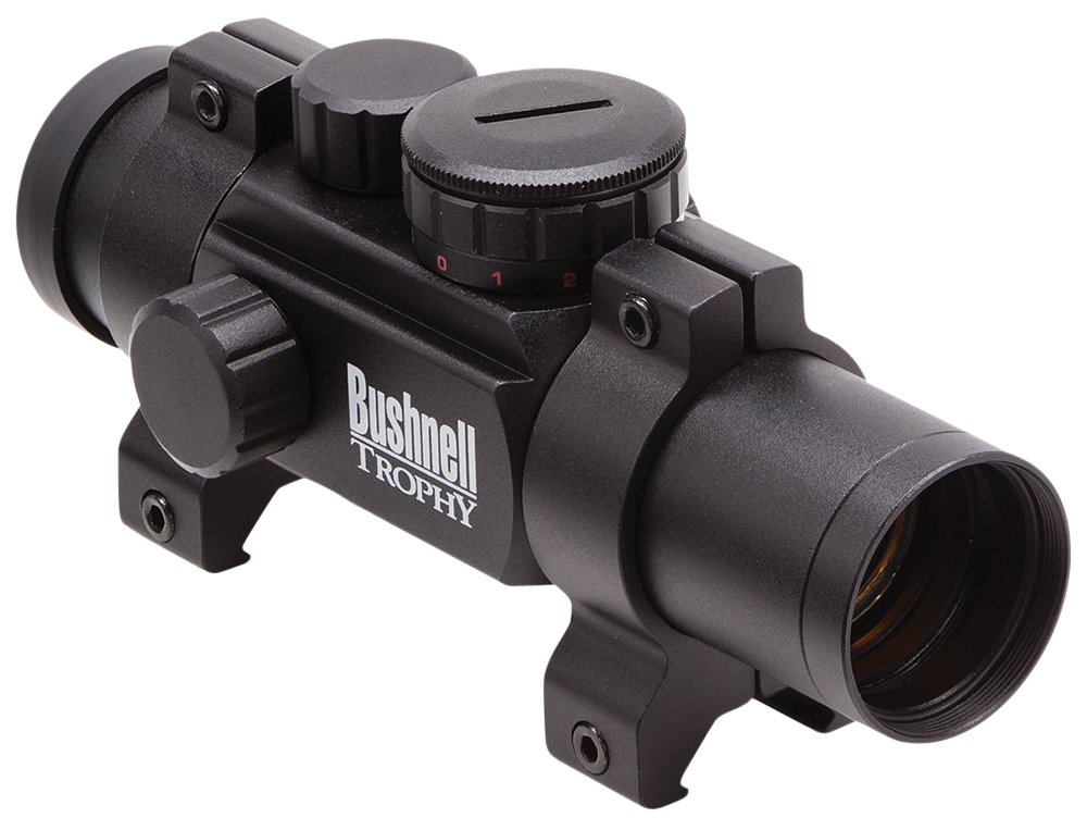 Bushnell Trophy Multi-Reticle Red-Dot Sight - 1x - Illum. Multi-Reticle - 3 MOA/10 MOA Red/Green Dot - Matte