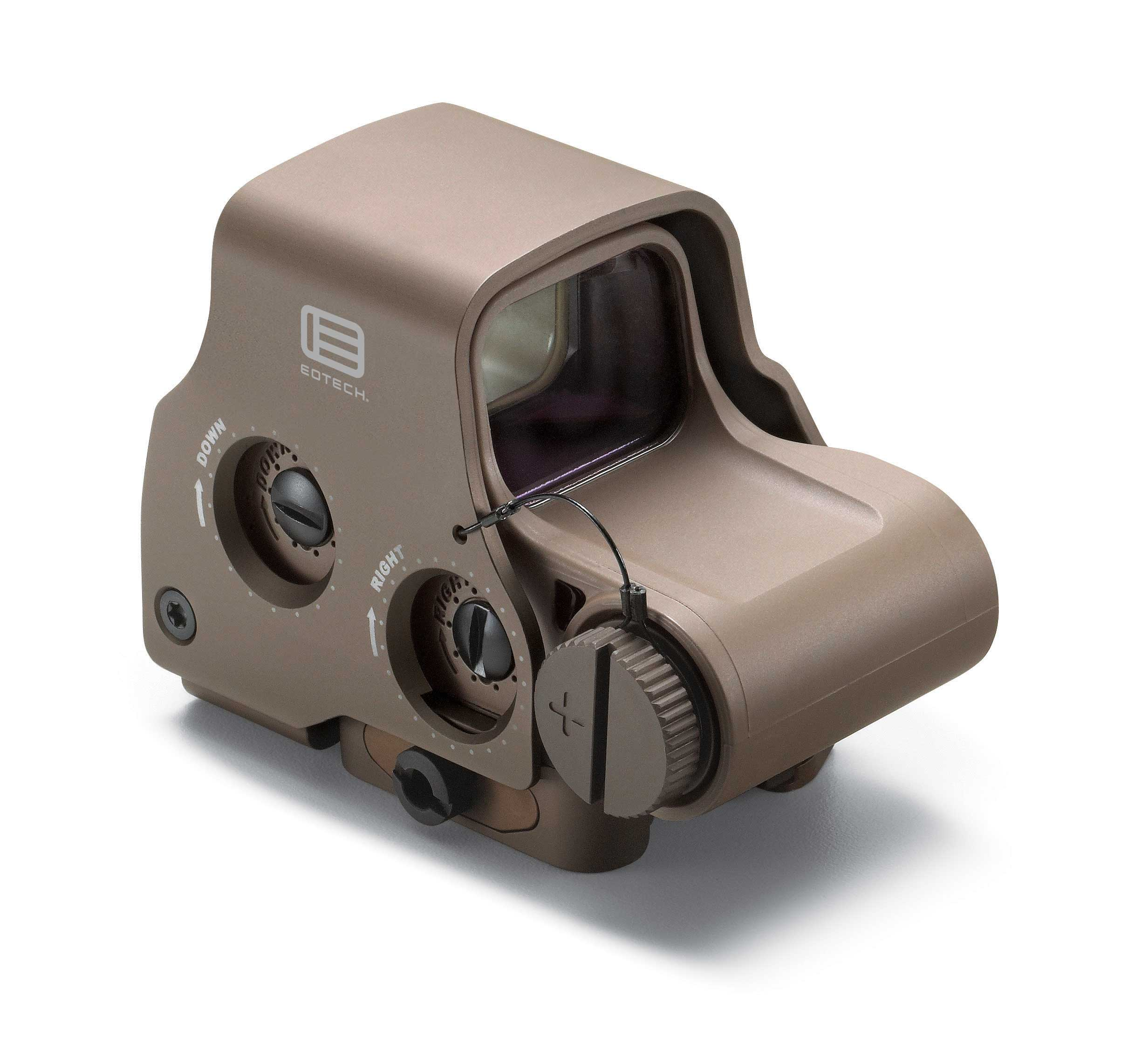 EOTech HWS Model EXPS3-2 Holographic Sight - 1x - Illum. 68 MOA Ring w/ 2 1-MOA Dots - 1 MOA Red Dot - Tan