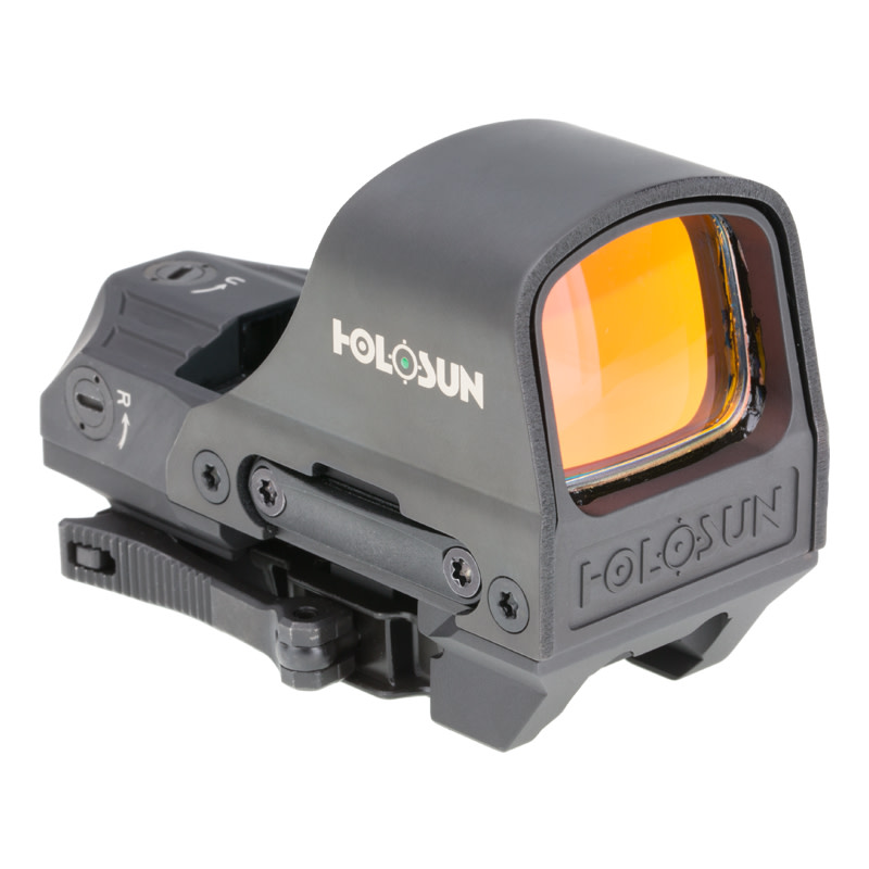 Holosun HE510C-GR Elite Reflex Sight - 1x - Illum. Multi-Reticle System - 2 MOA Green Dot - Matte