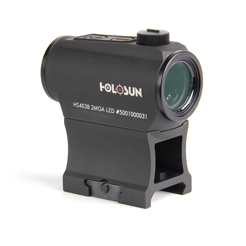 Holosun HE403B-GR Elite Compact Red-Dot Sight - 1x - Illum. Dot - 2 MOA Green Dot - Matte