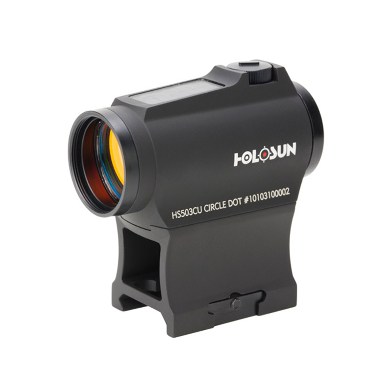 Holosun HS503CU Compact Red-Dot Sight - 1x - Illum. Multi-Reticle System - 2 MOA Red Dot - Matte