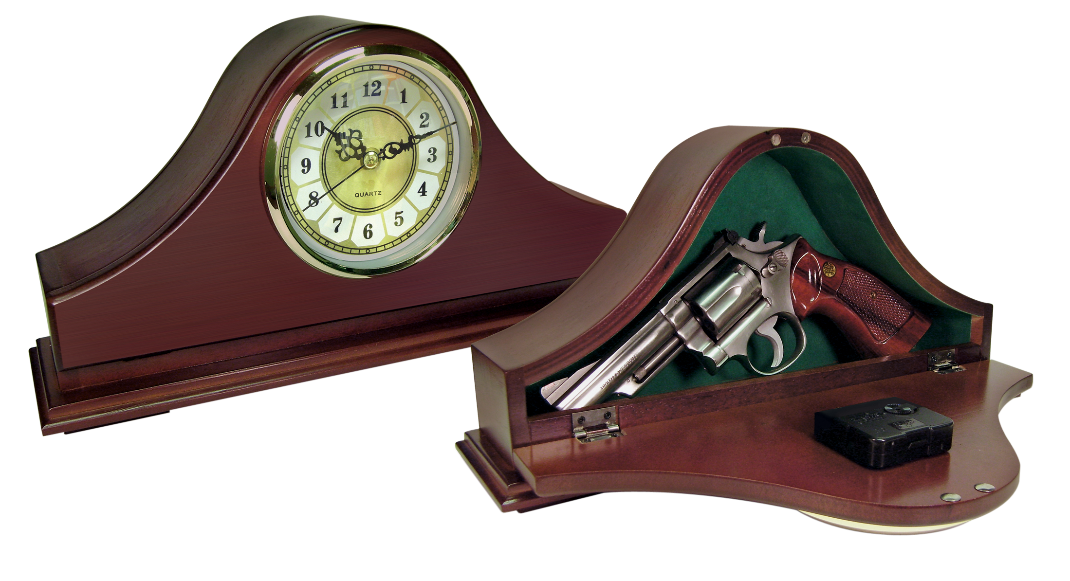 Peace Keeper Mantle Concealment Clock 14.63