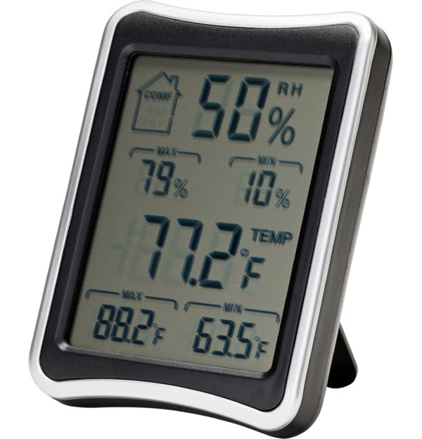 Snap Safe Hygrometer LCD Display