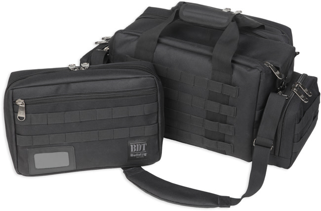 Bulldog BDT Tactical X-Large Range Bag MOLLE Mag Pouches - Black