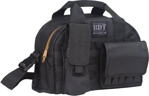 Bulldog BDT Tactical Large Range Bag MOLLE Mag Pouches - Black