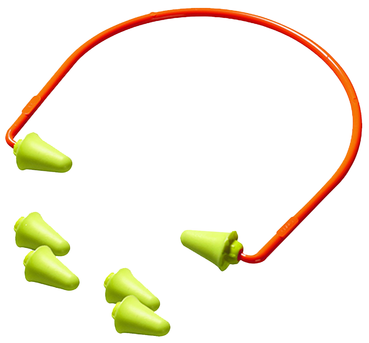 Peltor Banded Earplugs NRR 28 dB - Two Pairs of Replacement Plugs