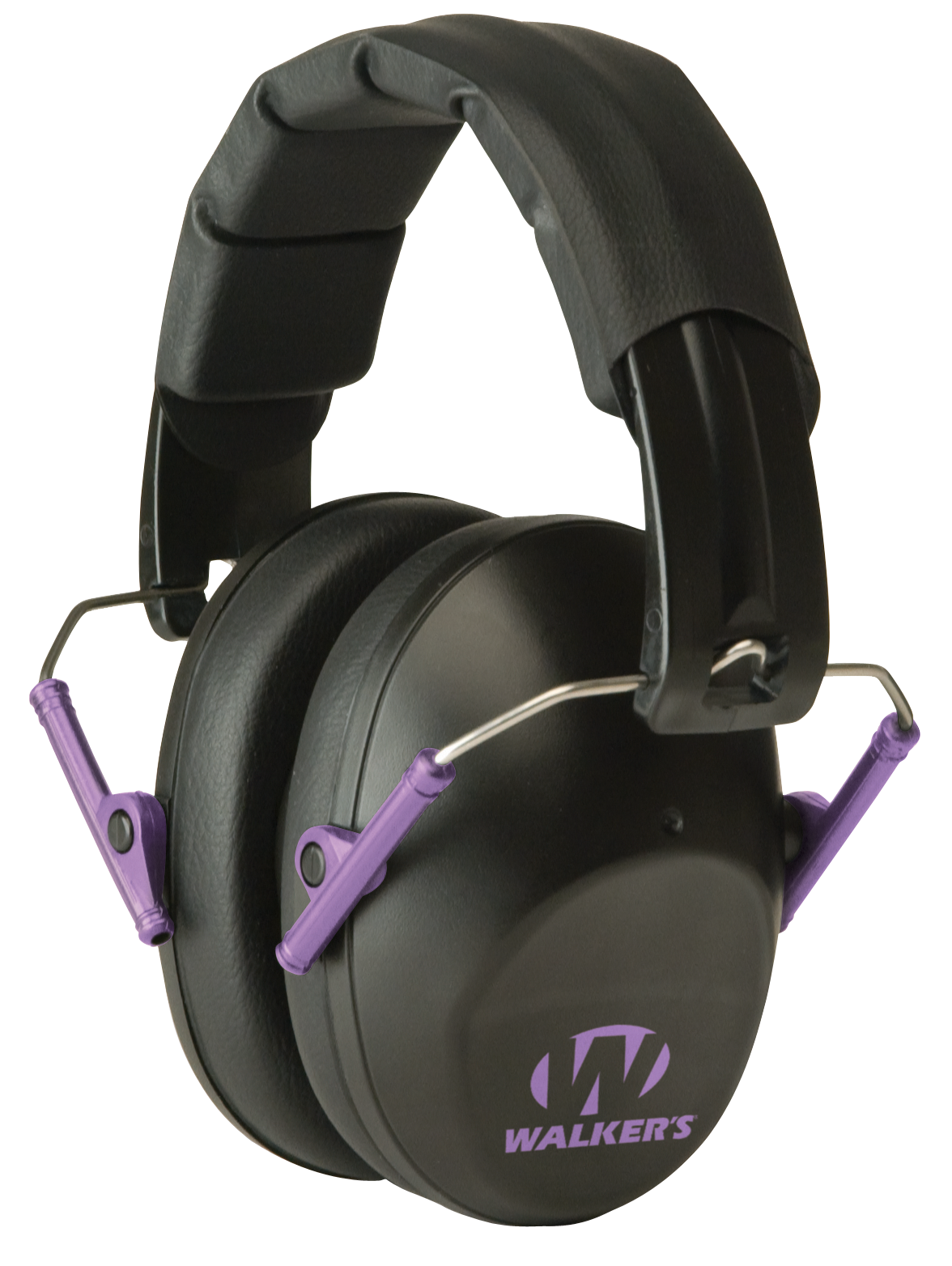 Walker's Pro Low Profile Passive Earmuffs NRR 22 dB - Black/Purple