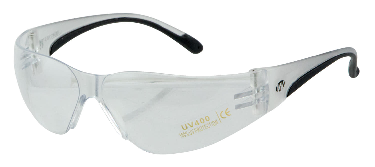 Walker's Youth & Women Shooting Glasses Clear Lens - Clear Frame