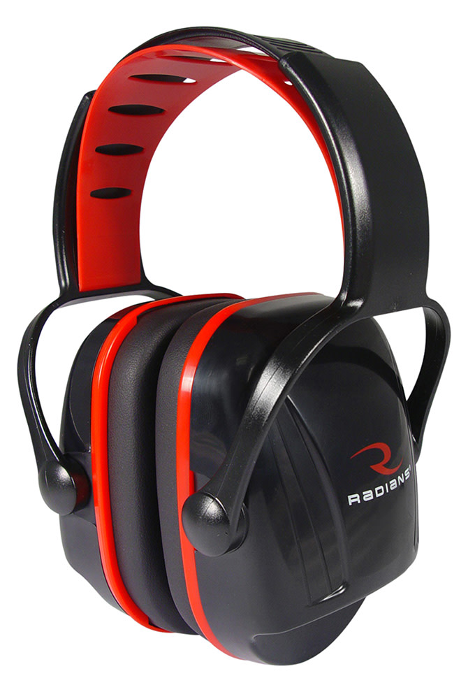 Radians X-Caliber Youth Passive Earmuffs NRR 22 dB - Black/Red