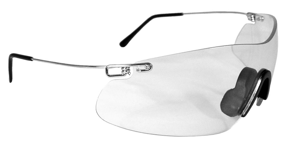 Radians Clay Pro Shooting Glasses Clear Lens - Clear Frame