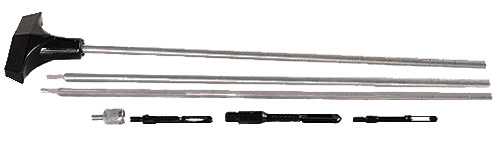 Hoppe's Stainless Steel Rifle Cleaning Rod - .22 Caliber+ - Three Piece