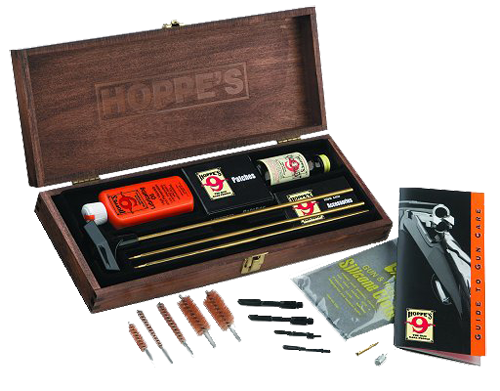 Hoppe's Deluxe Bench Rest Cleaning Kit - with Wood Presentation Box