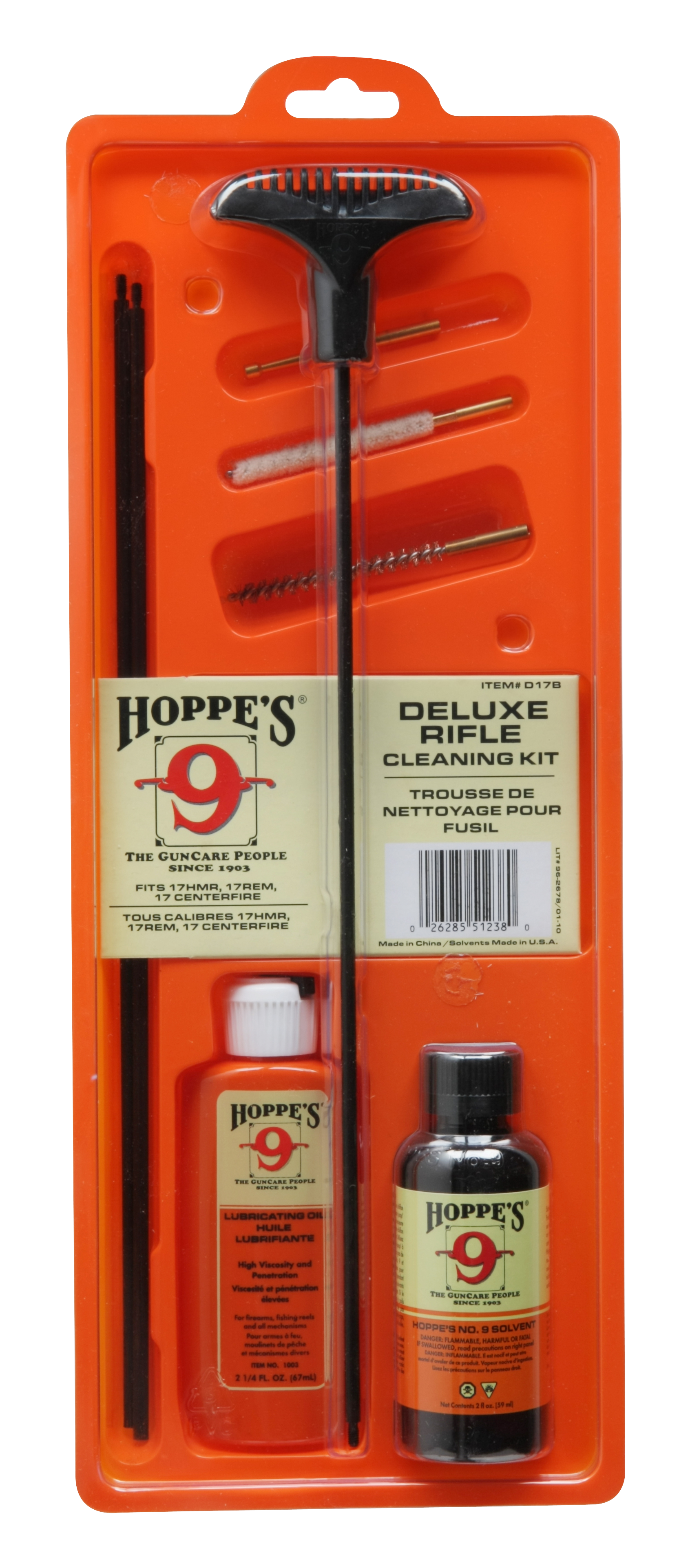 Hoppe's Deluxe Rifle Cleaning Kit - .17 to .204 Caliber