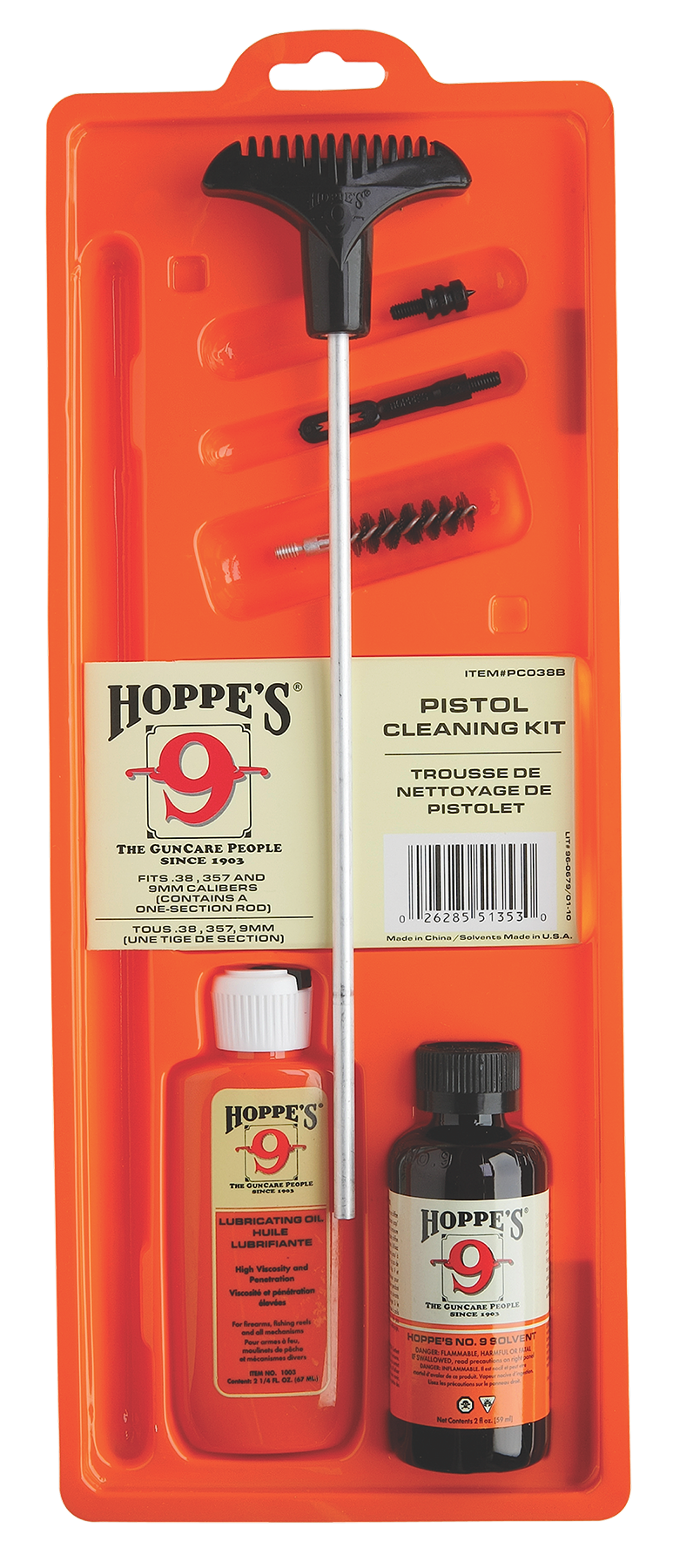 Hoppe's Handgun Cleaning Kit - .44 to .45 Caliber