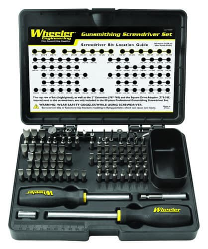 Wheeler Professional Gunsmithing Screwdriver Set - 89 Piece