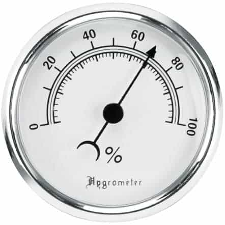 Lockdown Vault Hygrometer With Fastener/Hook