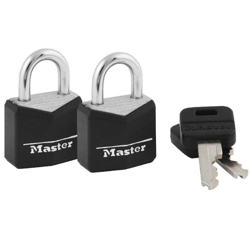 Master Lock Wide Covered Keyed Padlock 4mm Diameter Shackle