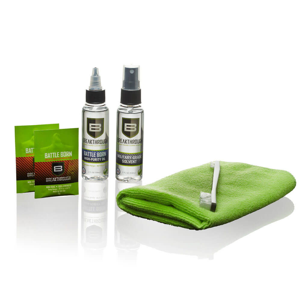 Breakthrough Clean Basic Cleaning Kit - Solvent, Oil, Brush, & Cloth