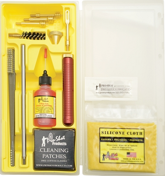 Pro-Shot Classic Box Handgun Cleaning Kit - .38 Caliber/9mm, .40 Caliber/10mm, .45 Caliber