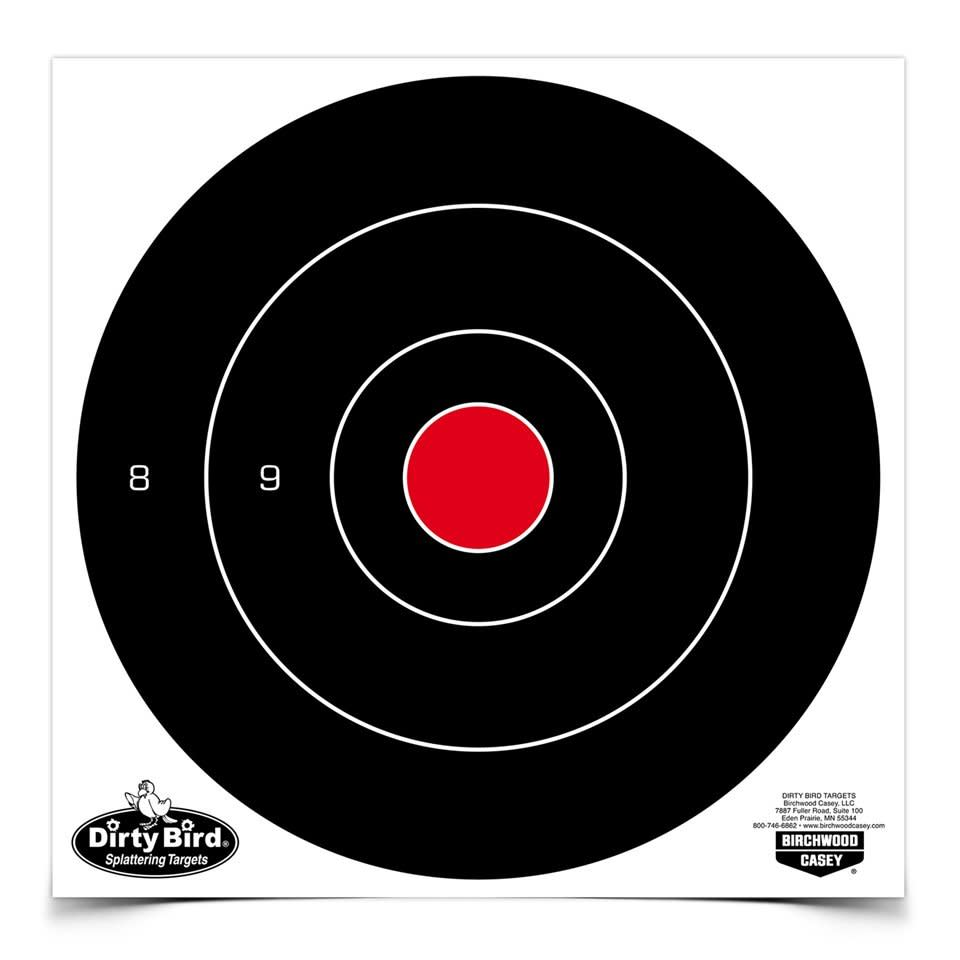Birchwood Casey Dirty Bird Bullseye Target - 8