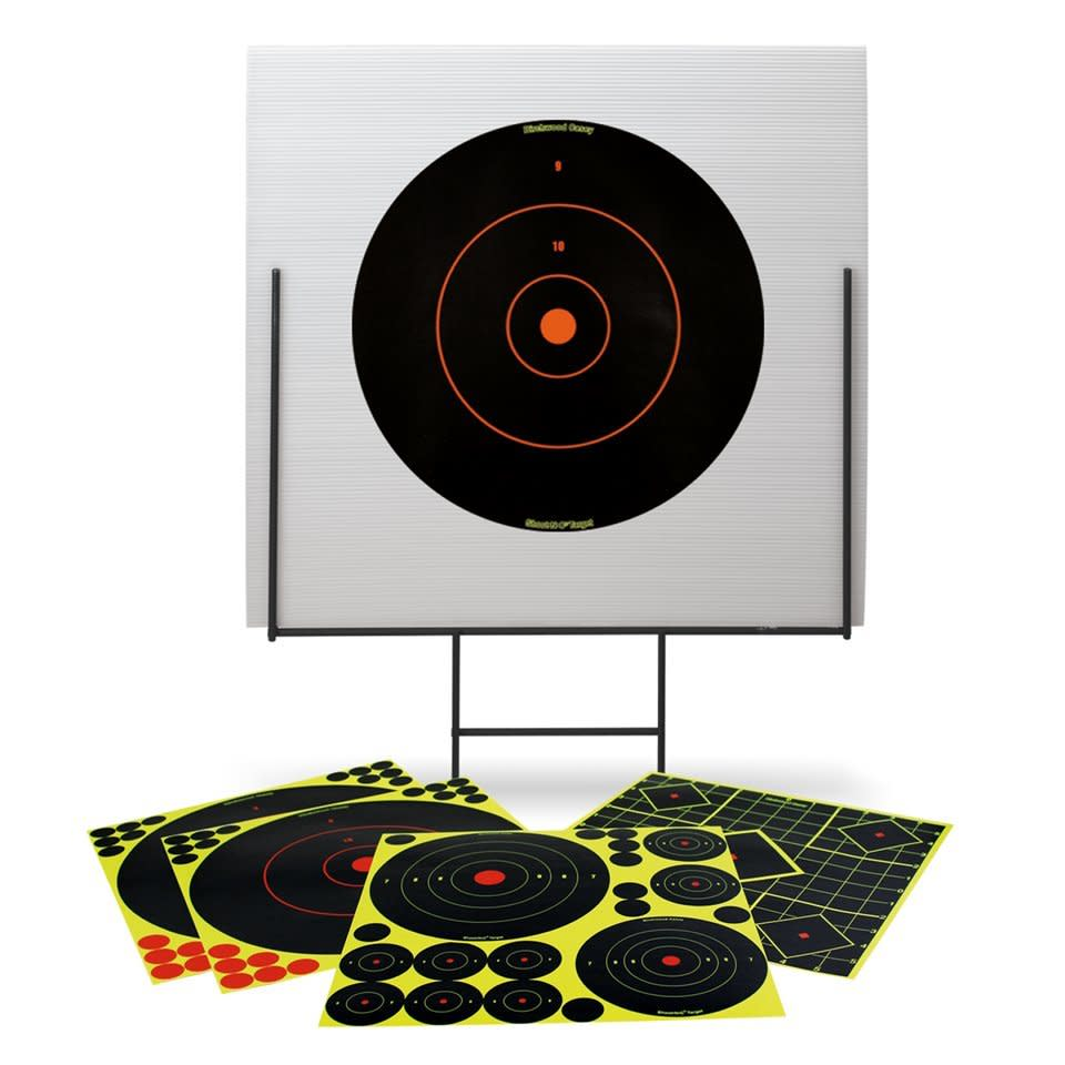 Birchwood Casey Shoot-N-C Portable Shooting Range - Metal Frame & Target Board with 13 Assorted Targets