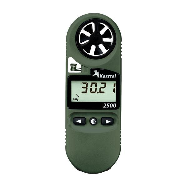 Kestrel 2500NV Weather Meter - with Backlit Display