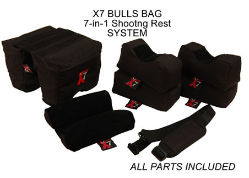 Bulls Bag X7 Advantage Shooting Rest System  - 7 Bag Set - Filled