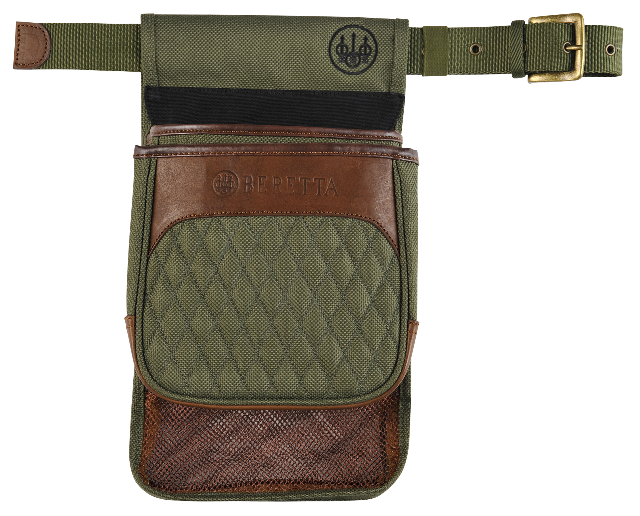 Beretta B1 Signature Shell & Hull Pouch - Canvas/Leather - Green
