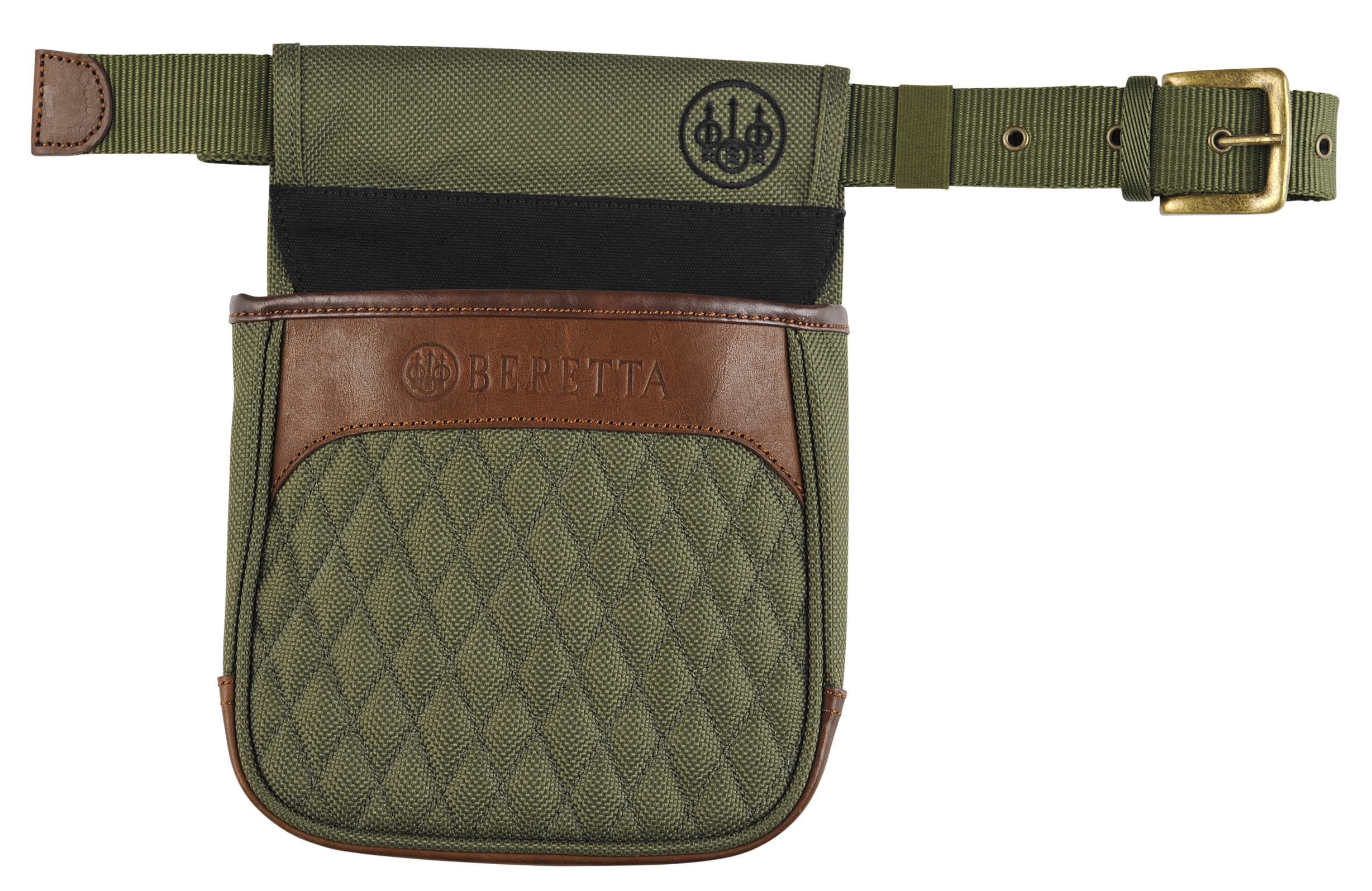 Beretta B1 Signature Shell Pouch - Canvas/Leather - Green