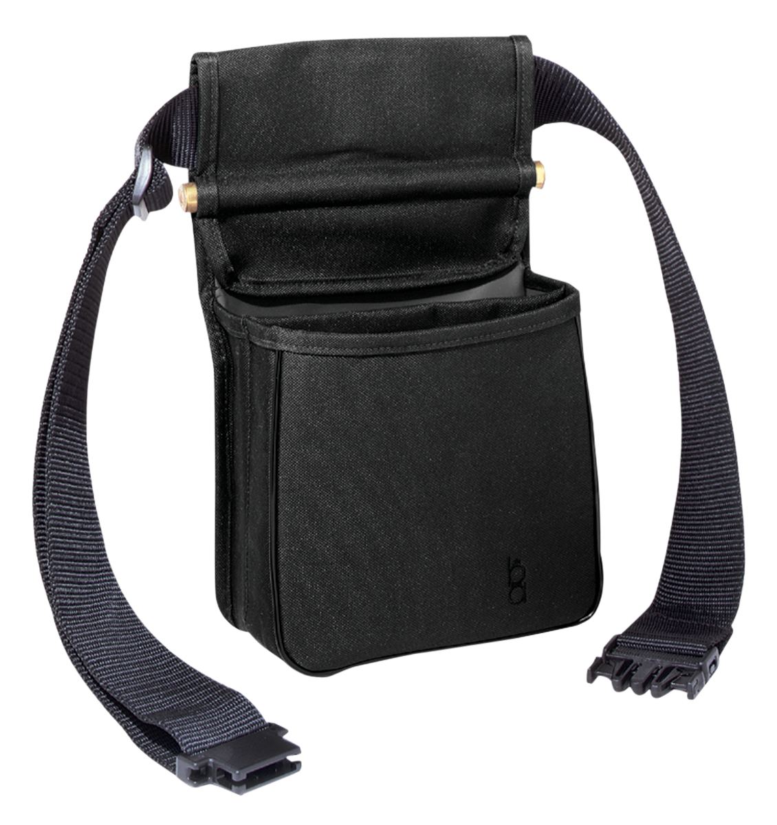 Bob Allen Divided Shell Pouch with Belt - Black