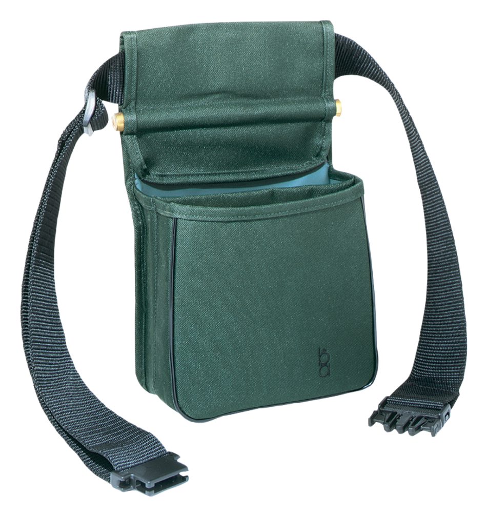 Bob Allen Divided Shell Pouch with Belt - Green
