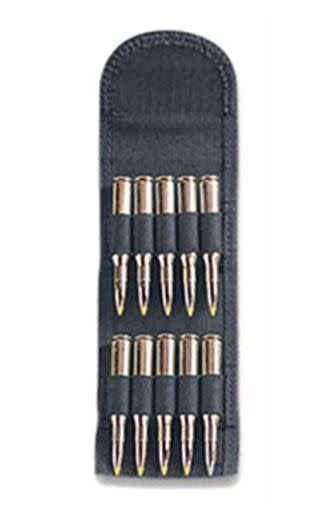 Uncle Mike's Rifle Folding Cartridge Carrier - 10 Round - Black